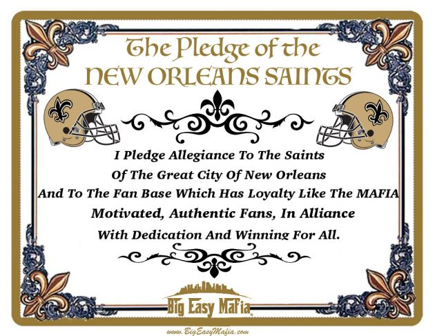 New Orleans Saints Pledge