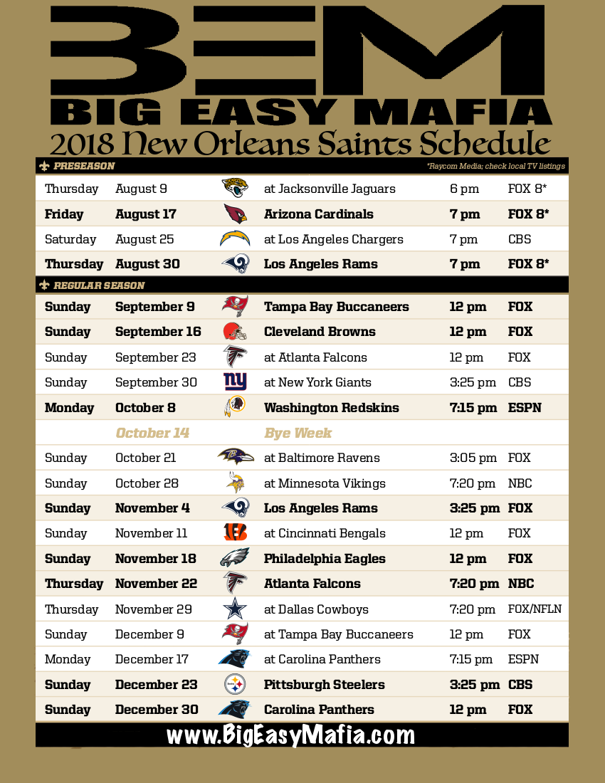 It is a graphic of Vibrant Printable Football Schedule